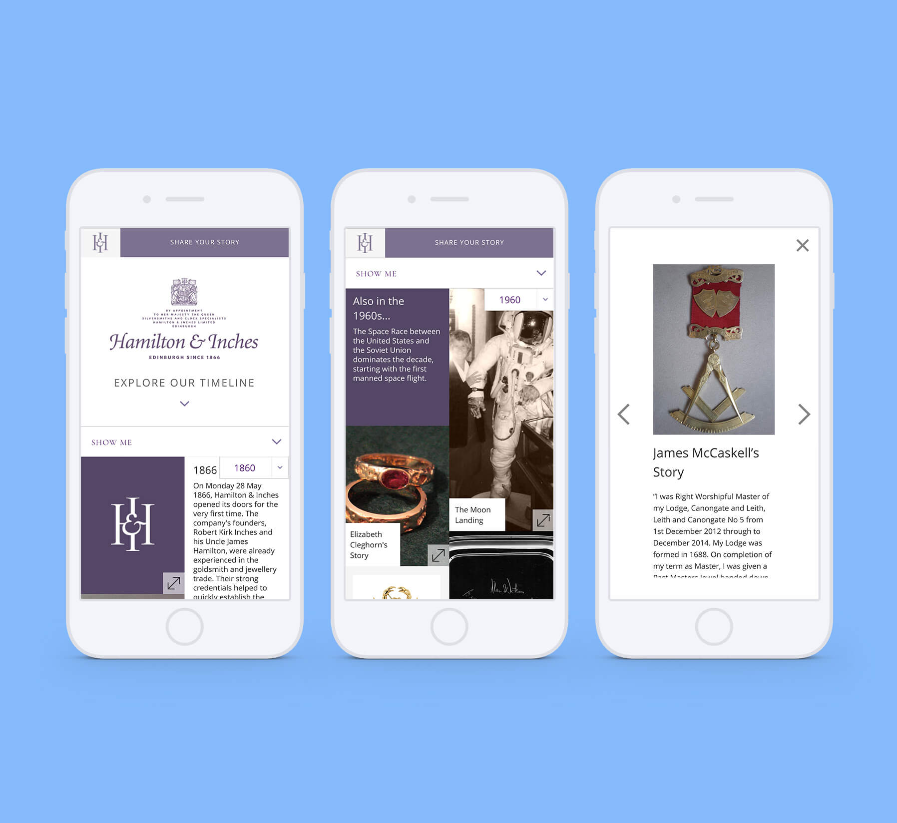 Hamilton and Inches Mobile Website Designs