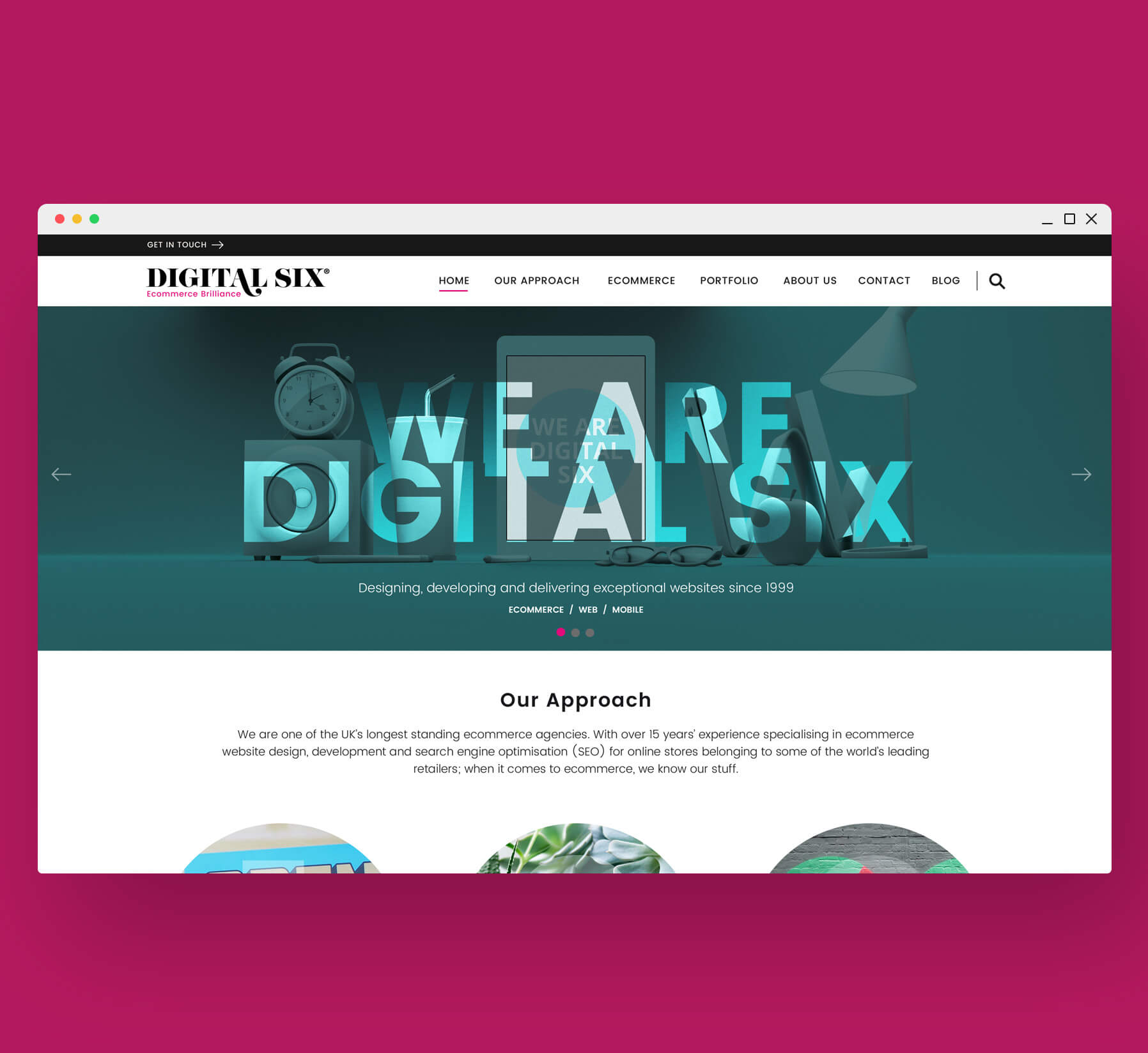 Digital Six Desktop Website Design