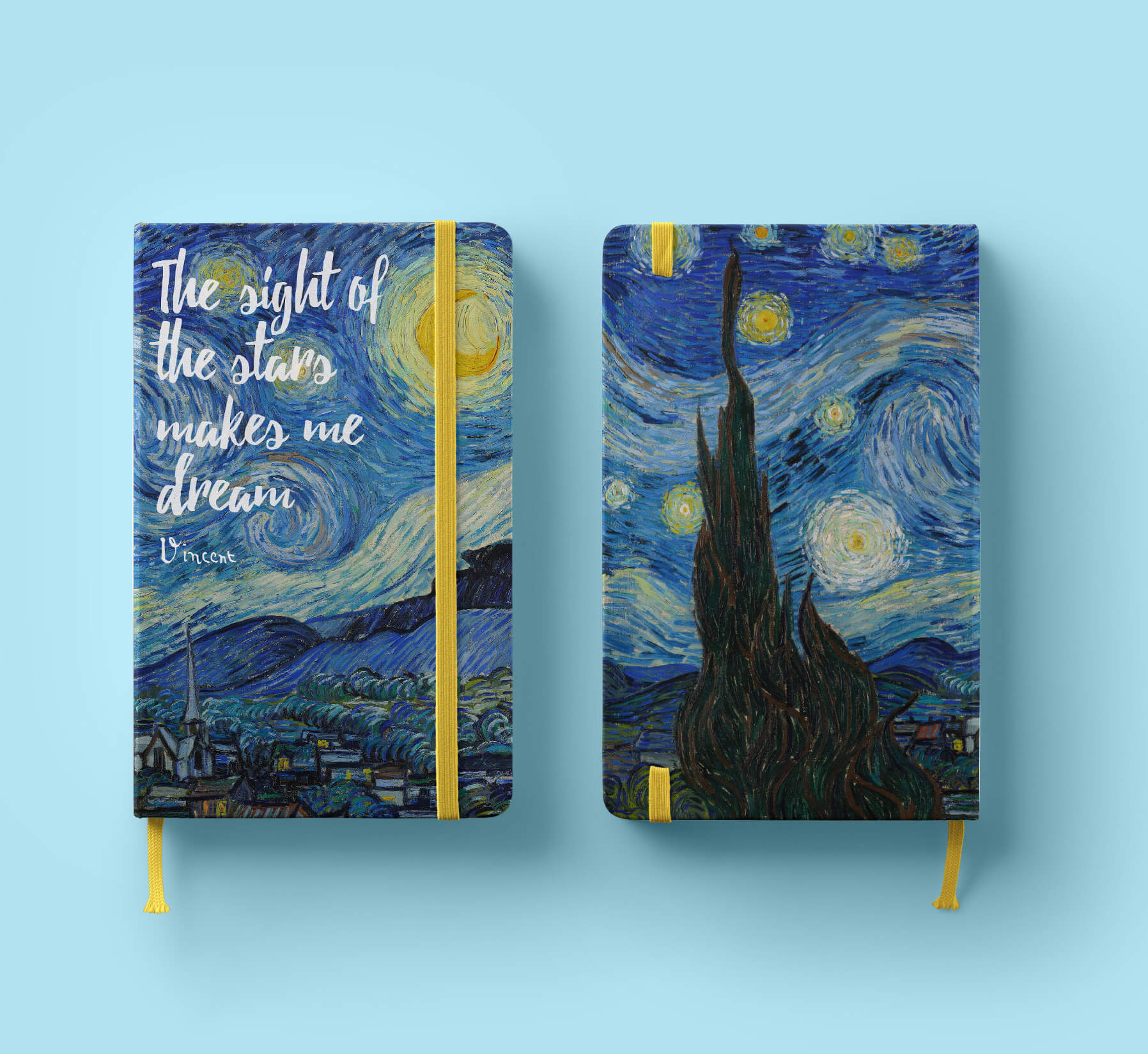 Van Gogh ALive Notebook Design