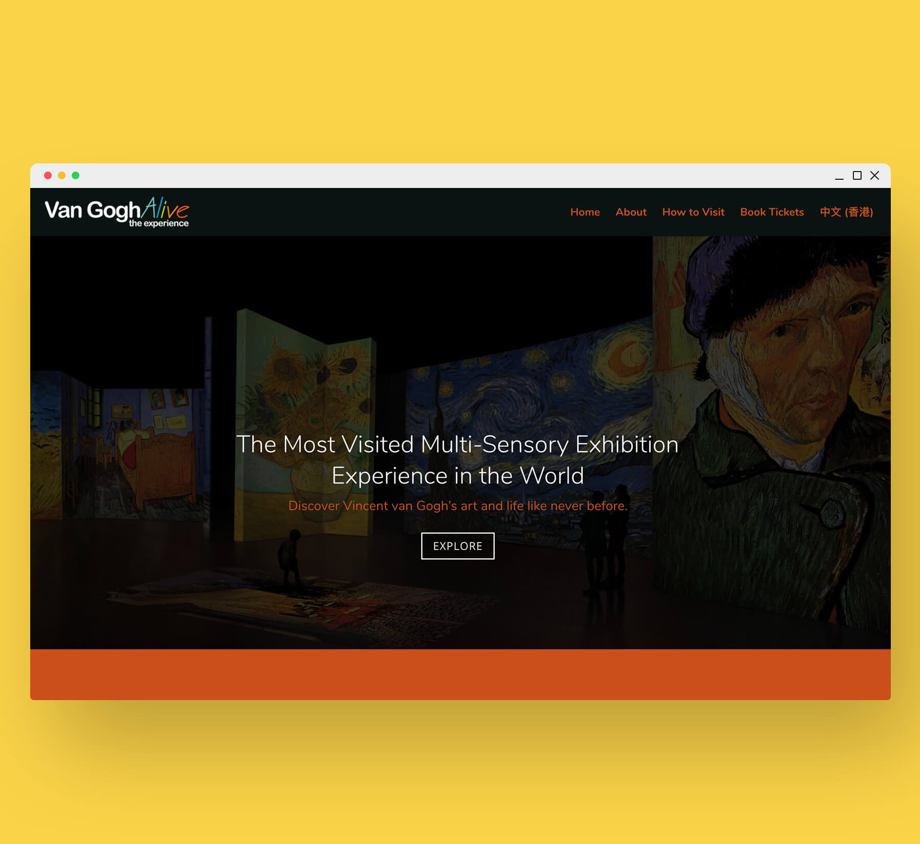 Van Gogh Alive Website